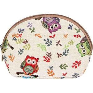 Handbags - Signare Tapestry White Travel Cosmetic Bag